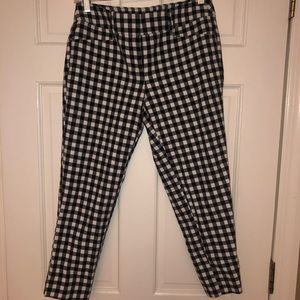 Cropped Check-Pants